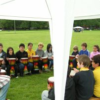 Edinburgh African drumming outdoor event