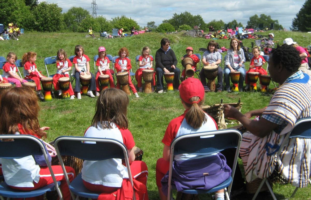 African drumming for community events